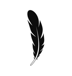 aztec feather icon simple style vector image