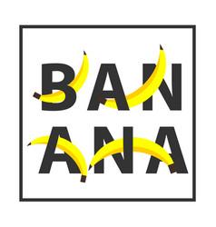 Banana template design vector