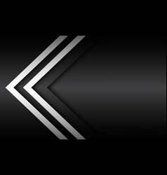 black and white overlayed arrow background vector image