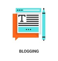 blogging icon concept vector image