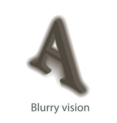 Blurry vision icon isometric style vector