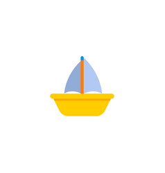 boat icon flat element of vector image