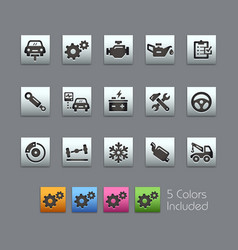 car service icons - satinbox series vector image