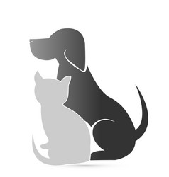 Cat and dog pet clinic icon vector