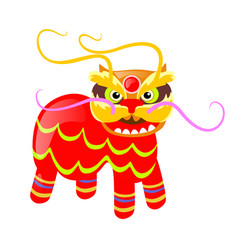 Chinese traditional image of colourful animal vector