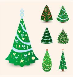 christmas tree ornament star xmas gift vector image
