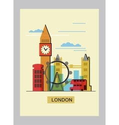color london vector image