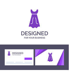 creative business card and logo template dress vector image