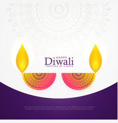 Creative diwali celebration poster festival vector