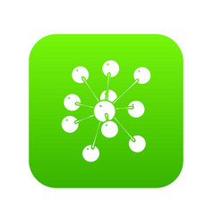 cresols molecule icon green vector image