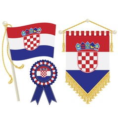 croatia flags vector image
