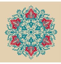 Damask floral arabesque motif vector