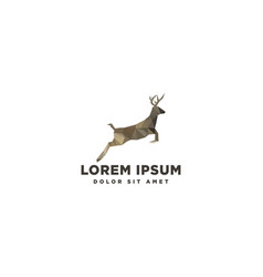 Deer jump icon logo template element isolated vector