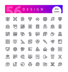 Design line icons set vector