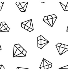 Diamond jewel gem icon seamless pattern vector