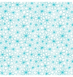 Doodle aquamarine flowers on transparent vector image
