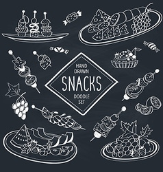Doodle snacks vector