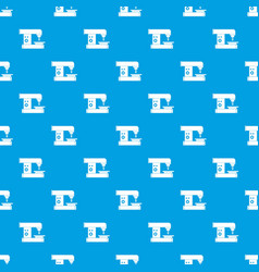 Drilling machine pattern seamless blue vector