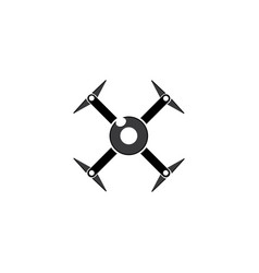 drone quad copter with digital camera at sky vector image
