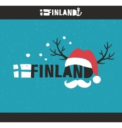 Emblem of Finland with hand drawn image in vintage vector image