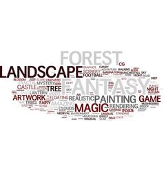 Fantasy word cloud concept vector