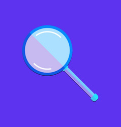 Flat magnifying glass vector