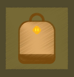 Flat shading style icon school bag vector