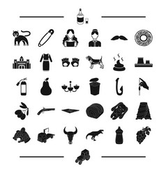 Food transportation animal and other web icon in vector