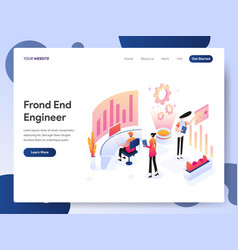 front end engineer isometric concept vector image