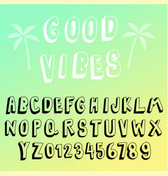 fun 3d transparency font collection vector image