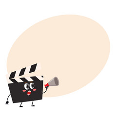funny cinema production clapper board clapboard vector image