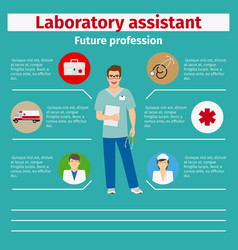 future profession laboratory assistant infographic vector image