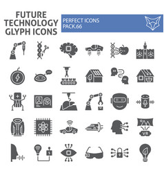 future technology glyph icon set innovation vector image