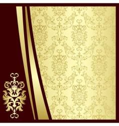 gold flowers vector image
