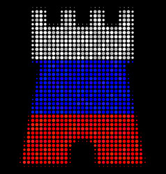 Halftone russian bulwark tower icon vector