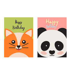 Happy birthday card collection vector