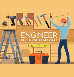 home construction engineer profession service vector image