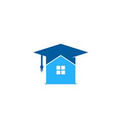 home education logo icon design vector image