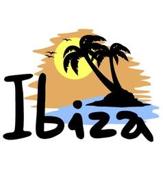 Ibiza beach symbol vector