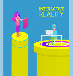 interactive reality technology vector image