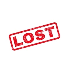 Lost Text Rubber Stamp vector
