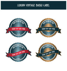 Luxury vintage badge-label vector image