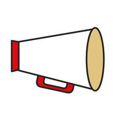 Megaphone director isolated icon vector