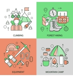 Mountain Climbing Linear Compositions vector image