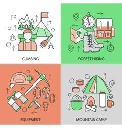 Mountain Climbing Linear Compositions vector