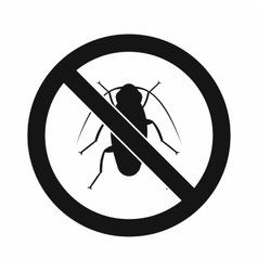 No cockroach sign icon simple style vector image