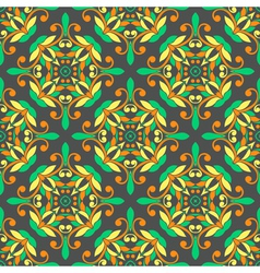 Oriental seamless symmetrical pattern vector