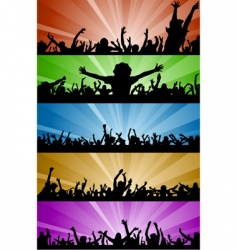 Party people with lighting vector