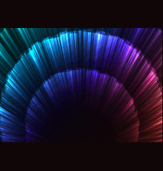 Rainbow abstract circle layer bloom bar background vector