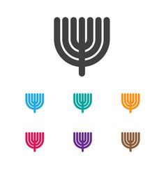 Religion symbol on menorah vector